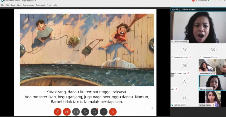 Serunya Membaca Nyaring Via Daring Bareng Room to Read
